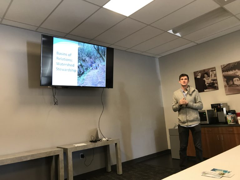 Urban Tilth sharing their Basins of Relations program at the Watershed Forum March, 2019 meeting